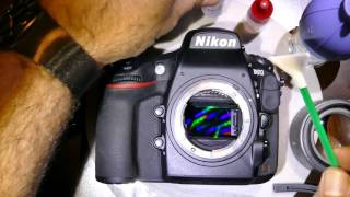 How to clean sensor of Nikon D810 using Sensor Clean by VisibleDust