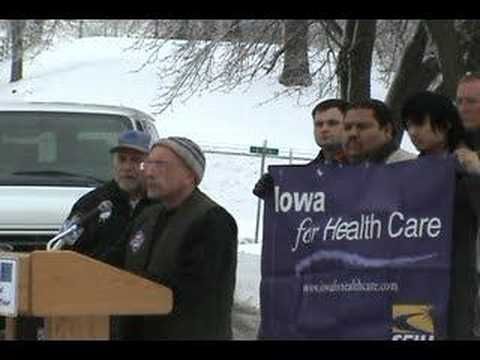 Iowa for Health Care Press Conference in Des Moines 1