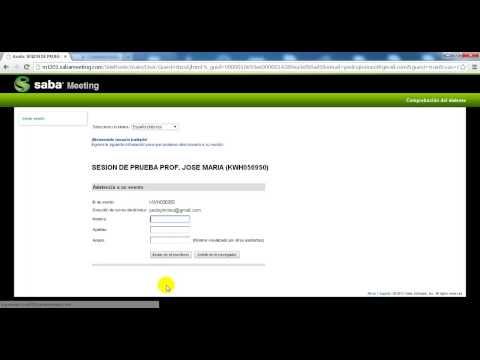 Videotutorial Saba Centra - Alumnos