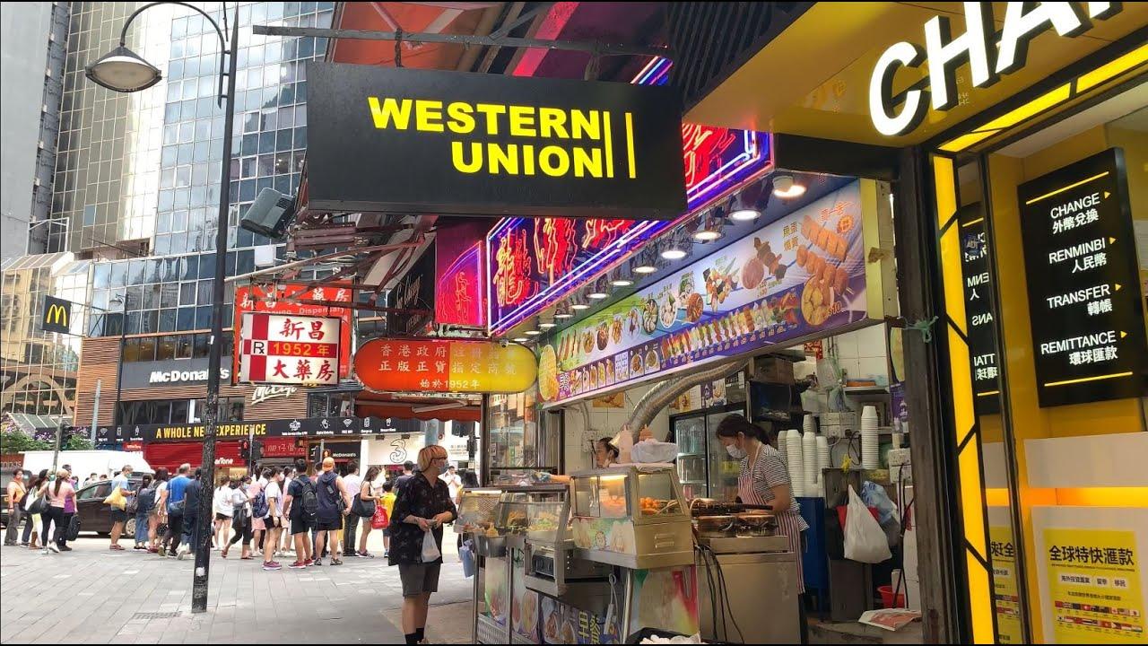 Walking tour to explore around street in Hong Kong