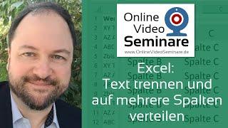 Excel: Text trennen und auf mehrere Spalten verteilen