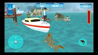 Blue whale : Angry Shark Sim 2018 / Android Game  / Game Rock