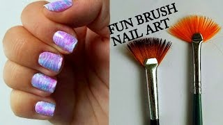 Fun Brush Nail Art/ Manikúra s vějířkem Tutorial