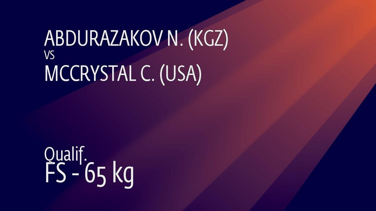 Qual. FS - 65 kg: N. ABDURAZAKOV (KGZ) v. C. MCCRYSTAL (USA)