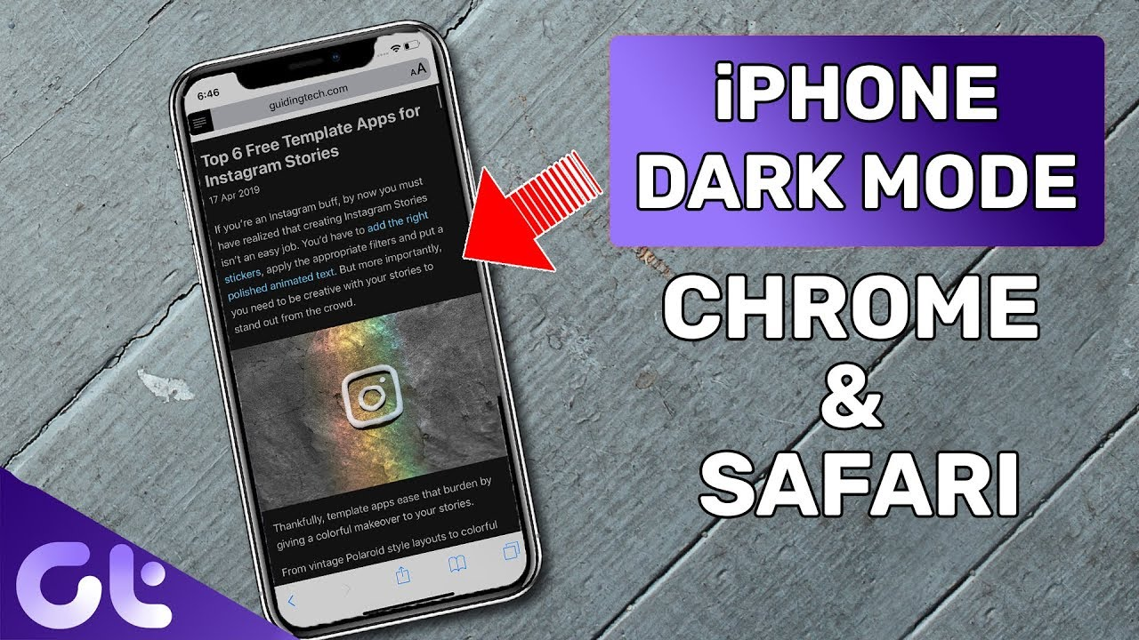 How to Enable Dark Mode for Safari & Chrome for iPhone and iPad   Guiding  Tech