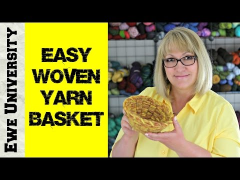 EASY WOVEN YARN BASKET