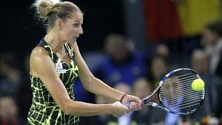 Highlights: Monica Niculescu (ROU) v Karolina Pliskova (CZE)