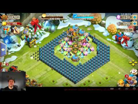 Castle Clash - Sweep Dungeon VS HBM Where The EXP Goes