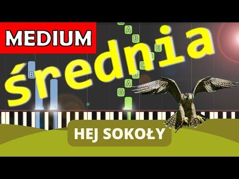 🎹 Hej Sokoły - Piano Tutorial (średnia wersja) 🎹