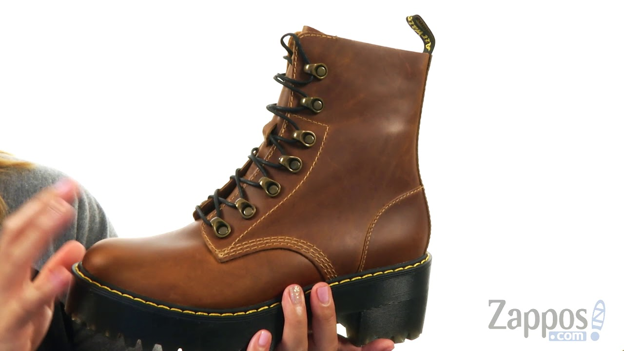 e5d557bf1880 Dr. Martens Leona 7 Hook Boot SKU  8905301 - YouTube