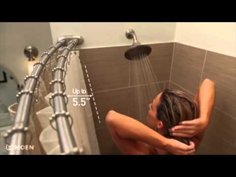 Moen DN2141CH Chrome Curved Shower Rod