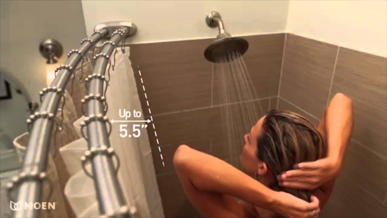 Moen DN2141CH Chrome Curved Shower Rod  YouTube