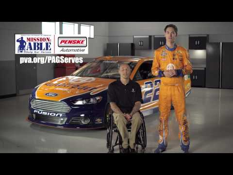 Penske Automotive Group and Joey Logano Support Paralyzed Veterans of America