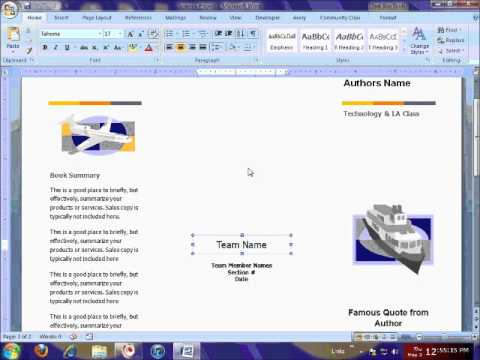 Brochure Template & Printing Tutorial - Youtube