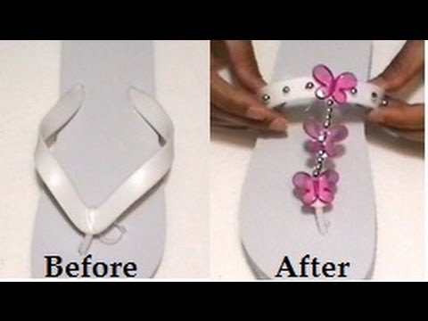 296d662c2c89 Decorating Flip Flops - YouTube