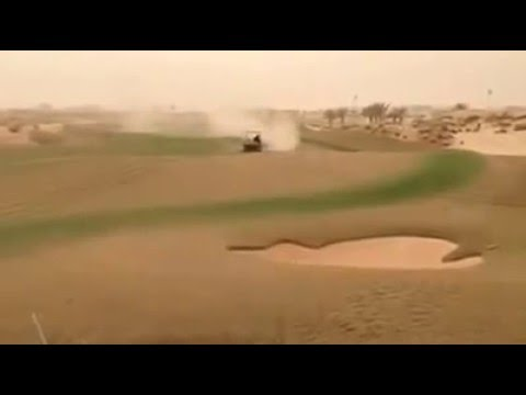 Cleaning Fairways after a Sandstorm