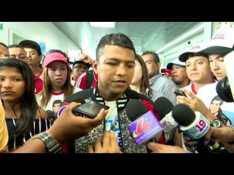 Llegada de Chocolatito a Nicaragua