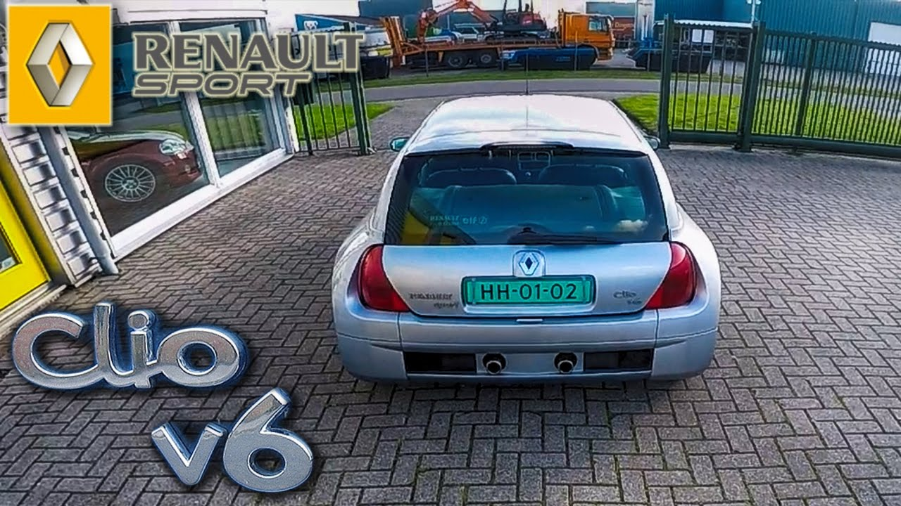 renault sport clio v6 3 0 exhaust sound youtube