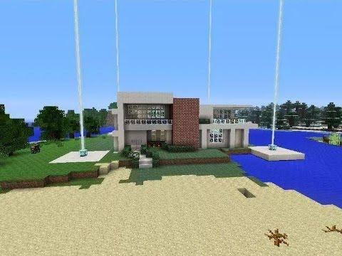 Construcciones de minecraft 3 casas modernas gameplay en for Construcciones de casas modernas