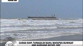Singaporean cargo ship runs aground off Ilocos Sur