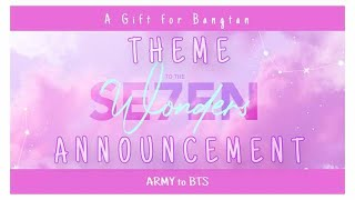[Theme Announcement] - Mixtape For BTS 2020 - ARMYs' 7th Birthday Gift To Bangtan