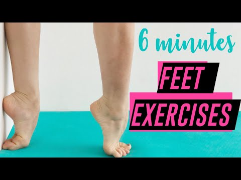 BALLET FEET EXERCISES   6 Minutes Follow Along routine to IMPROVE FOOTWORK and ARCHES (FAST!)