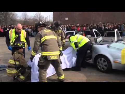 Mock prom crash at Elgin High School