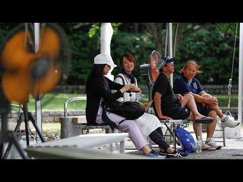 Olympic organizers test heat countermeasures
