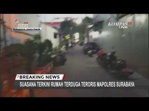 Suasana Terkini Rumah Terduga Teroris Mapolrestabes Surabaya