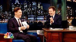 Alan Rickman-off With Benedict Cumberbatch And Jimmy Fallon  Late Night With Jimmy Fallon