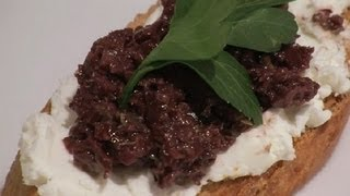 Recipe For Olive Tapenade With Goat Cheese : Bruschetta & Crostini
