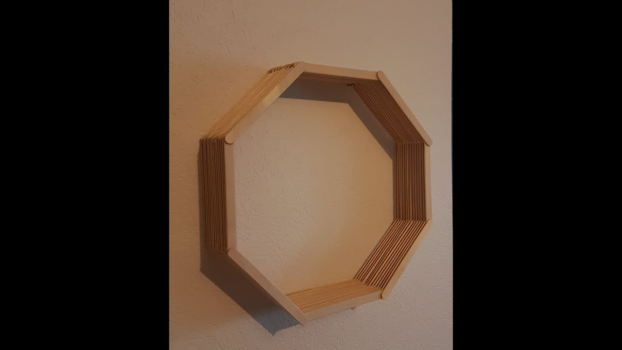 Diy Popsicle Stick Octagon Shelf Youtube