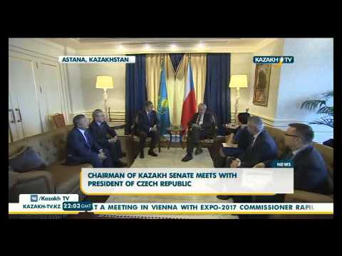 Chairman of Kazakh senate meets with president of Czech Republic