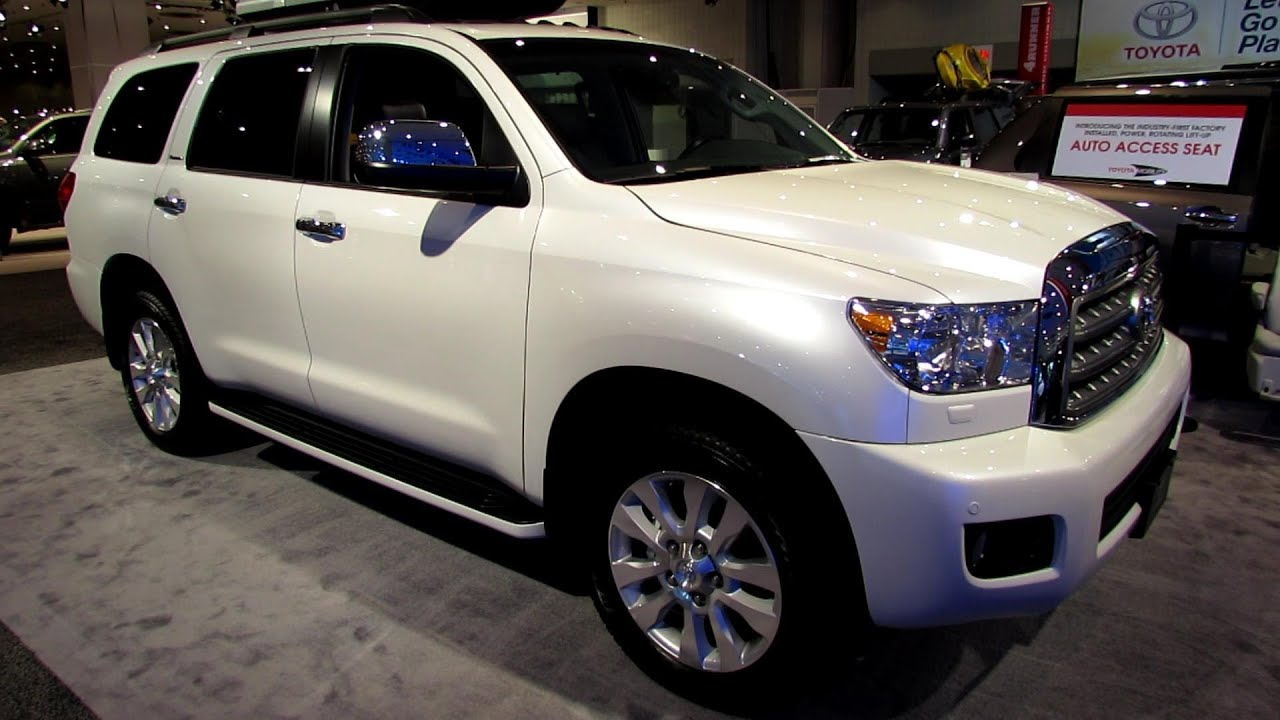 2013 toyota sequoia platinum exterior and interior walkaround 2013 new york auto show youtube