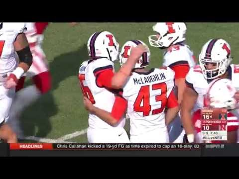 Illinois Football Highlights at #15 Nebraska 10/1/16