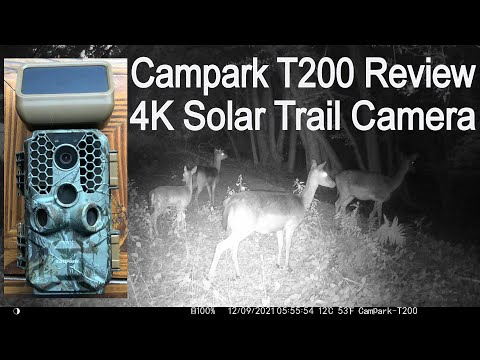 Campark T200 Solar Powered 4K Digital Trail Camera Review, Unboxing and Demonstration