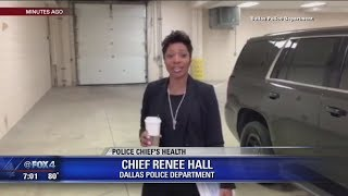 Dallas police chief returns from medical leave