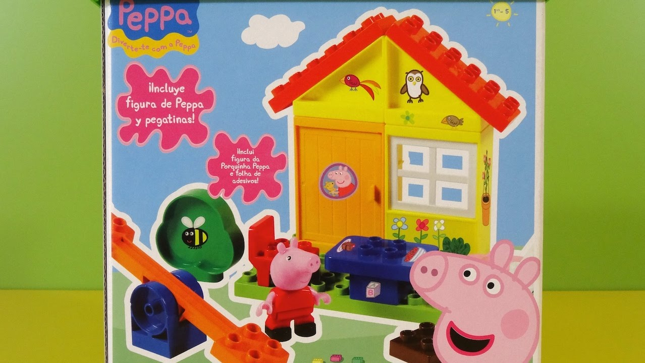 Peppa Pig House with a SeeSaw Building Blocks Game  YouTube