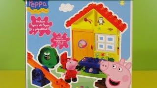 Peppa Pig Casa con Balancín Juego de Bloques - Juguetes de Peppa Pig