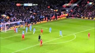 Liverpool vs Manchester City Highlights 1/25/2012