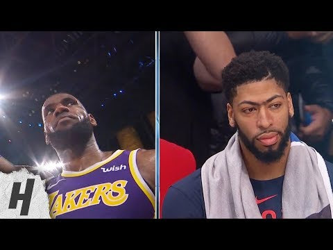 LeBron James Hits Dagger 3, Anthony Davis in Shock - Pelicans vs Lakers | Feb 24, 2019