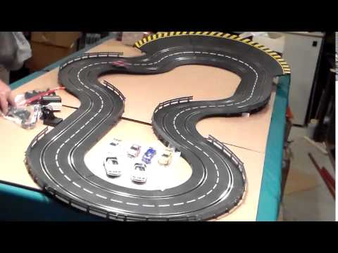carrera 1/32 1/24 slot car track - YouTube