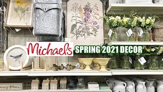 NEW! MICHAELS SPRING 2021 DECOR SHOP WITH ME!