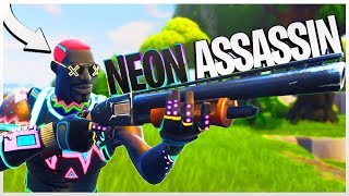 "ASSASSIN AU NÉON ! - PS4 Fortnite NEON ""Liteshow"" Peau!"