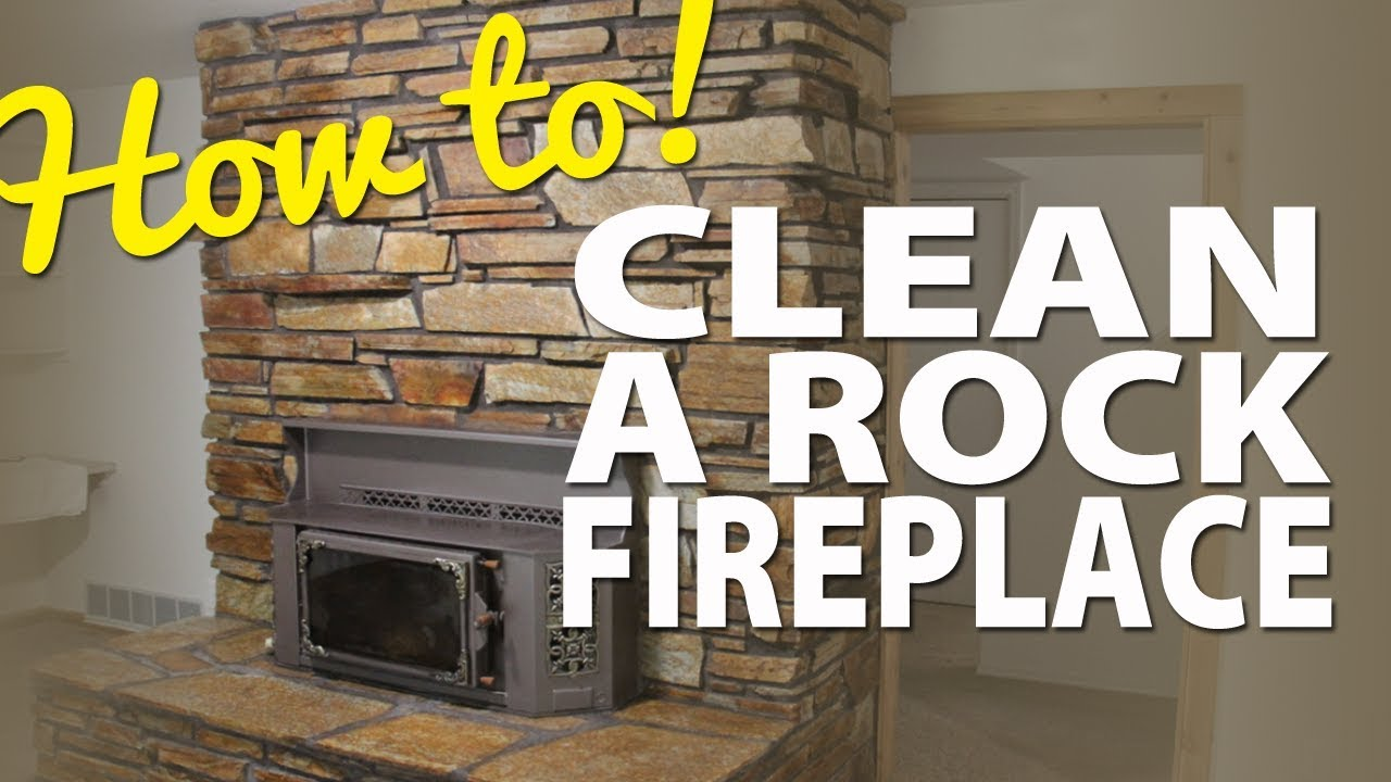 How to clean your stone or rock fireplace