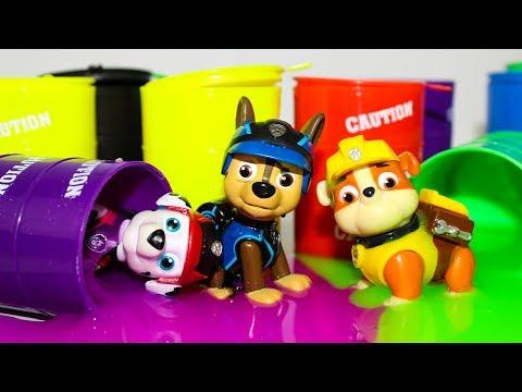 Щенячий патруль мультик про Лизун и Сюрпризы Игрушки для детей Развивающие мультики Учим Цвета