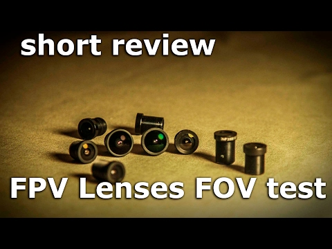 FPV Lens Test / Выбор линз для фпв From Banggood
