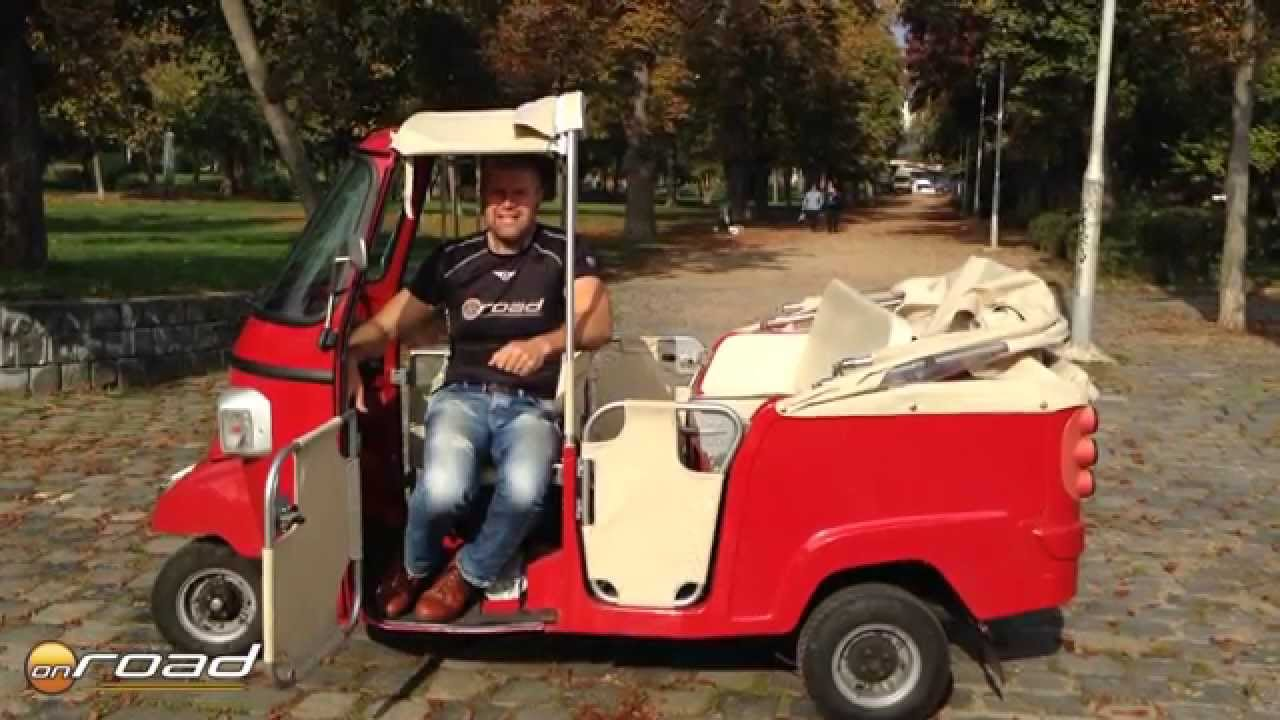 piaggio ape calessino 200 teszt youtube. Black Bedroom Furniture Sets. Home Design Ideas