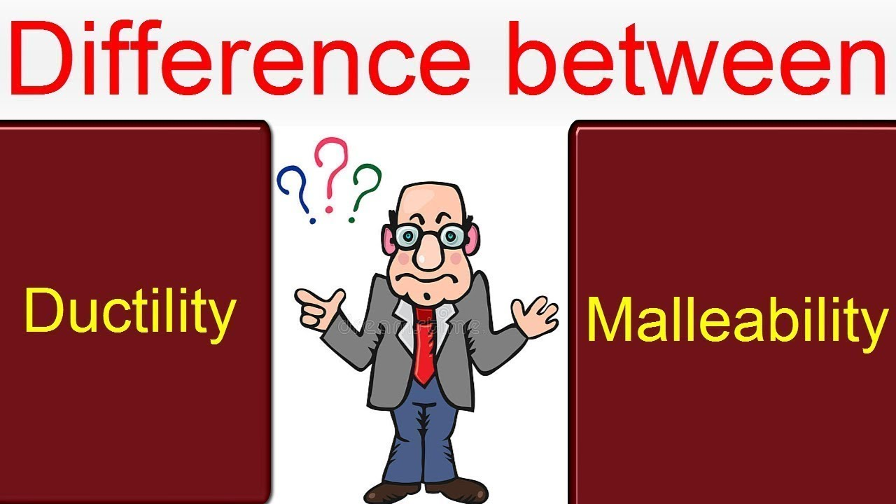 difference between ductility and malleability with examples youtube