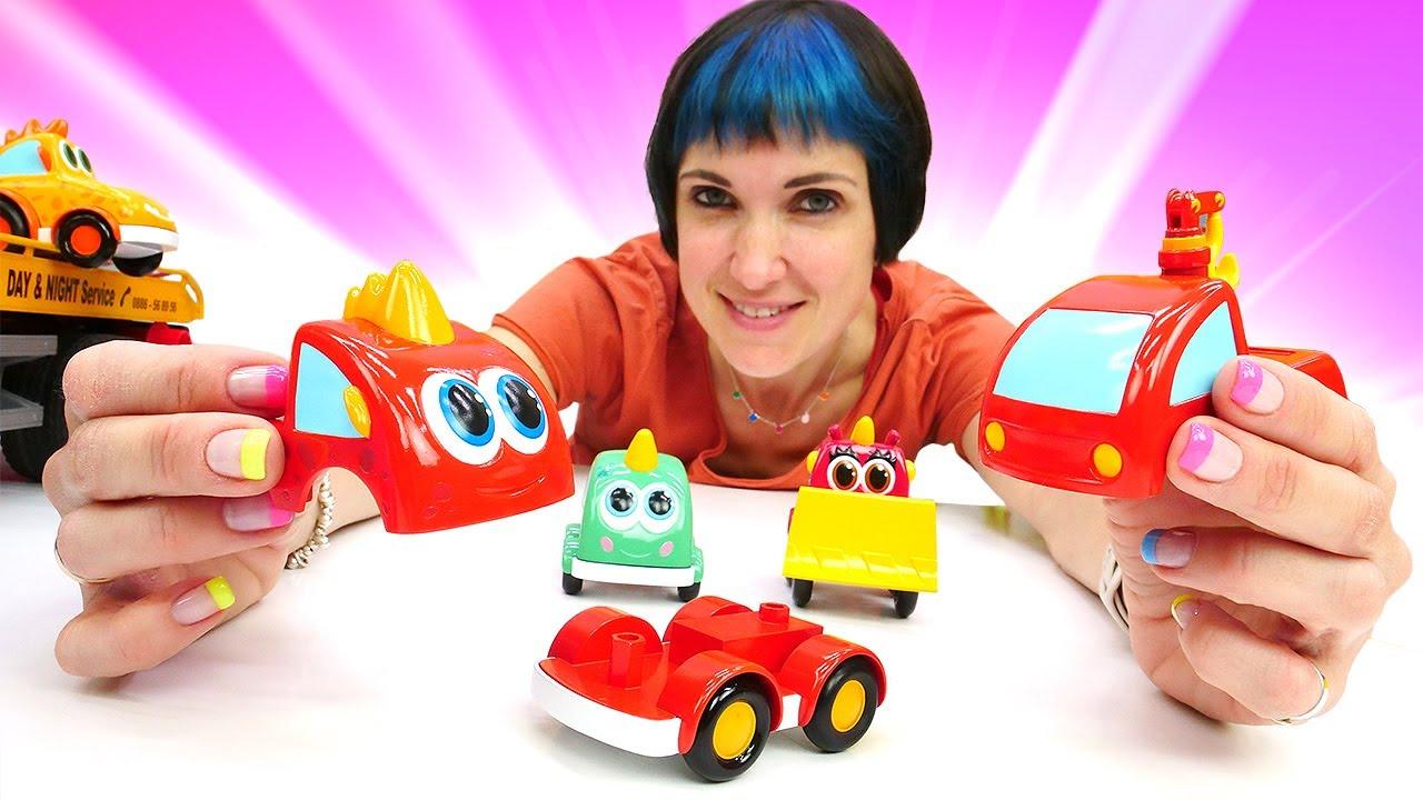Машинки Мокас строят заправку. Веселая школа Капуки Кануки. Мультики и Игры в машинки Мокас